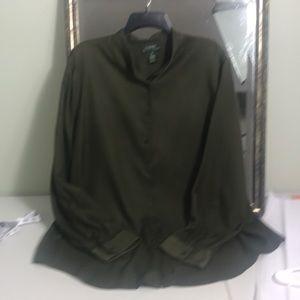 L.Ralph Lauren 100% silk button down shirt size 2X